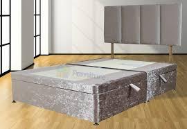 Crushed Velvet Bed Amber Crushed Velvet Divan Base