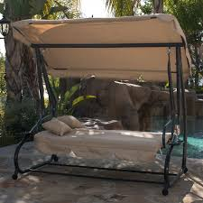 Gazebo Porch Swing by Outdoor Swing Bed Patio Adjustable Canopy Deck Porch Seat Chair