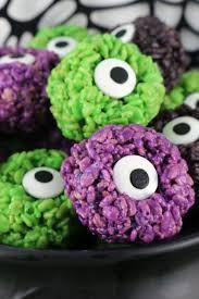 monster eye balls rice krispie bites two sisters crafting