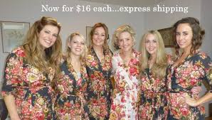 and bridesmaid robes set of 6 bridesmaids robes cotton floral kimono robe getting ready