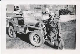 black military jeep 1945 photo of man and jeep in japan on ebay ewillys