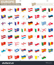 Europe Country Flags Waving Flag Icon Flags Europe Countries Stock Vector 773306794