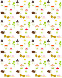 hedgehog wrapping paper free digital fall woodland scrapbooking paper herbstpapier