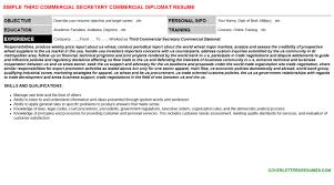 third commercial secretary commercial diplomat cover letter u0026 resume