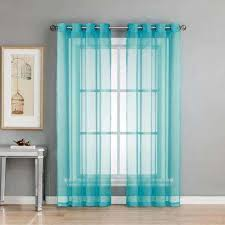 Blue Sheer Curtain Blue Sheer Curtains Drapes Window Treatments The Home Depot
