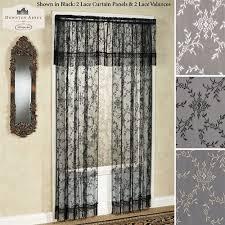 Black Lace Valance Downton Abbey Yorkshire Lace Window Treatment