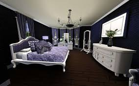 purple and black room impressive purple and black bedroom ideas pertaining to house