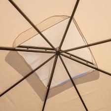 amazon com sonoma outdoor iron gazebo canopy umbrella w net