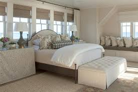 white faux bois 4 poster bed transitional bedroom