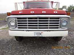 Ford Diesel Truck Radiator Cover - front grill of red ford f600 grain truck growing up i was so