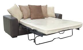 Leather Hide A Bed Sofa Furniture Exciting Leather Hideabed With Beige Cushions For