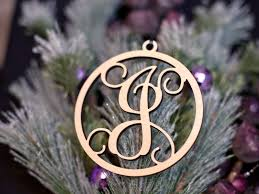 wood vine initial ornament craftcuts