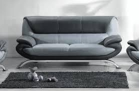 canap gris fonc canapé 3 places en cuir italien sicilia gris clair et gris foncé