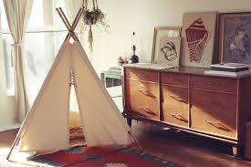 accessories simple white fabric teepee for kids kid tent floral