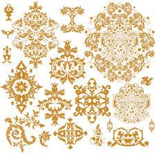 set of ornate vector ornaments stock vector imagepluss 8347050