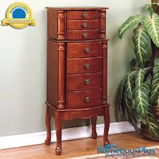 Jewelry Storage Cabinet Powell Classic Cherry Jewelry Armoire Storage Cabinet Chest