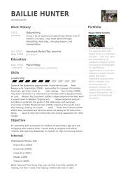 teen resume exle babysitting skills listed on a resume