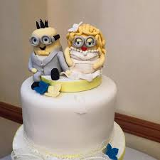 custom wedding cakes custom wedding cake toppers and groom minions wedding