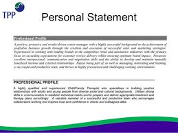 personal statement for resume resume ideas