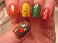 the best turkey day nail designs that actually involve turkeys