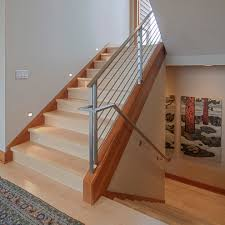 stair railing staircase transitional with metal railing decorative