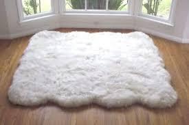 white plush area rug rugs decoration