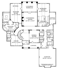 dimensioned floor plan craftsman style house plan 4 beds 4 5 baths 7502 sq ft plan 453