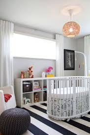 White Ruffled Curtains For Nursery by Bedroom Brown Round Cribs With Ruffled Curtain And Blue Wall For