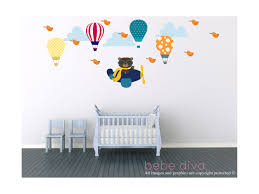 Eiffel Tower Wall Decals Air Balloon Wall Decals Wall Decals Nursery Wall Decal Nursery