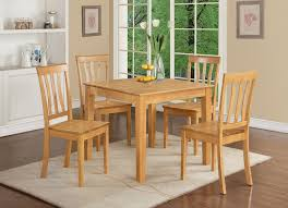 kitchen table square 5 piece sets wood assembled 6 seats brown