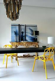 dining room console table dining table dining room space dining room decor yellow dining