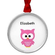 pink owl ornaments keepsake ornaments zazzle