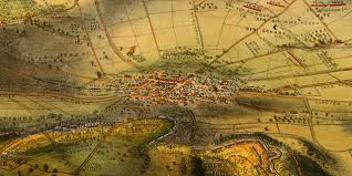 Birds Eye View Map Gettysburg Battlefield Map 1863 Framed