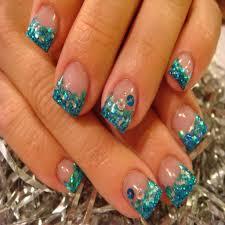 10 acrylic nail designs glitter tips