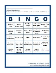 summer reading at the library u2013 a printable game board and bingo