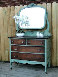 Vintage Vanity Table Antique Dressing Table With Round Mirror 1958 Vintage Quarter Sawn