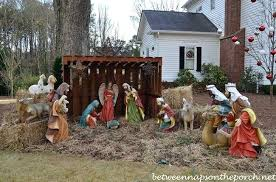 lighted outdoor nativity nativity yard set celebrate the birth of lighted outdoor nativity