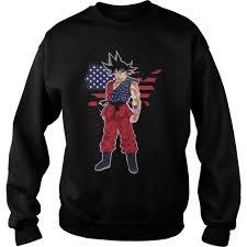 Dope American Flag Goku With Usa Flag Shirt Hoodie Youth Tee