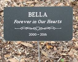 dog grave markers pet grave markers etsy
