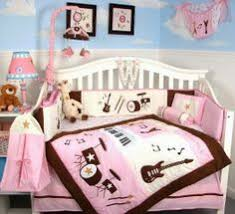 Baby Crib Bedding For Girls by Paris Baby Bedding Pink And Black 9pc Crib Set By Sweet Jojo