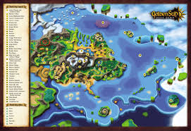 World Map Artwork by Golden Sun Adept U0027s Refuge Golden Sun Dark Dawn
