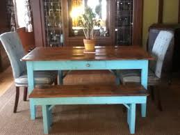 farm table with bench hand made custom farm table with matching bench by
