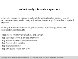 Product Analyst Resume Sample by Product Analyst Interview Questions