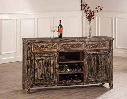 hillsdale larose console table with 2 door storage and wine rack