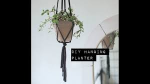 how to make a hanging macrame planter youtube