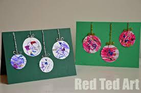 christmas cards ideas preschooler christmas cards simple bauble cards