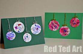 preschooler christmas cards simple bauble cards