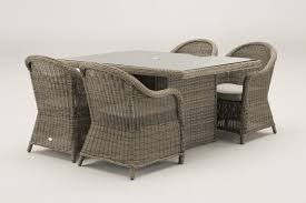 Grey Rattan Outdoor Furniture by Florence 1 5 Metre Rectangular Grey Rattan Dining Table And 4