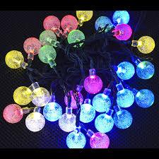 Solar Lighted Outdoor Christmas Decorations by 30pcs Solar Led String Lights Crystal Ball Solar Light Outdoor
