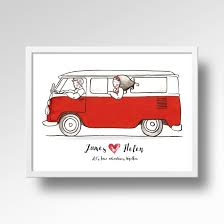 dibujos combi pop buscar con google pop pinterest bug art vw hippie lovers personalized names art print handmade van illustration poster wall art